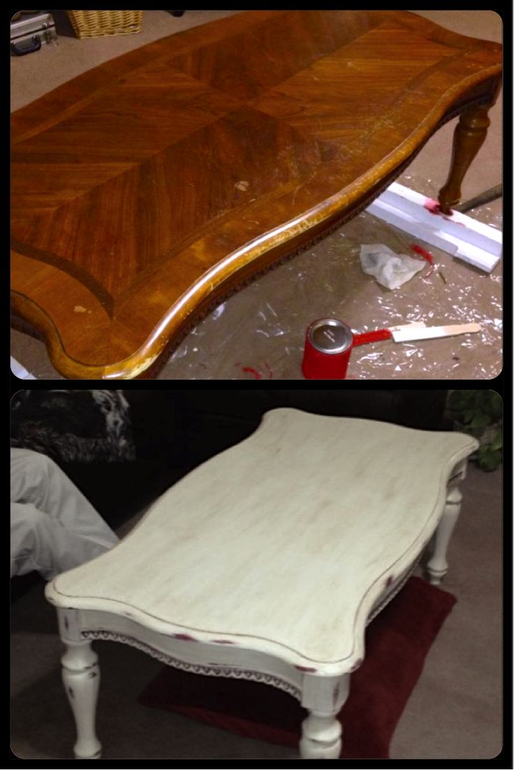 Beautiful Coffee Table Painted First In Emperor 39 S Silk Chalk Paint And Then Painted In Old