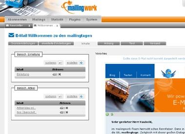 Newsletter erstellen mit mailingwork 3.0