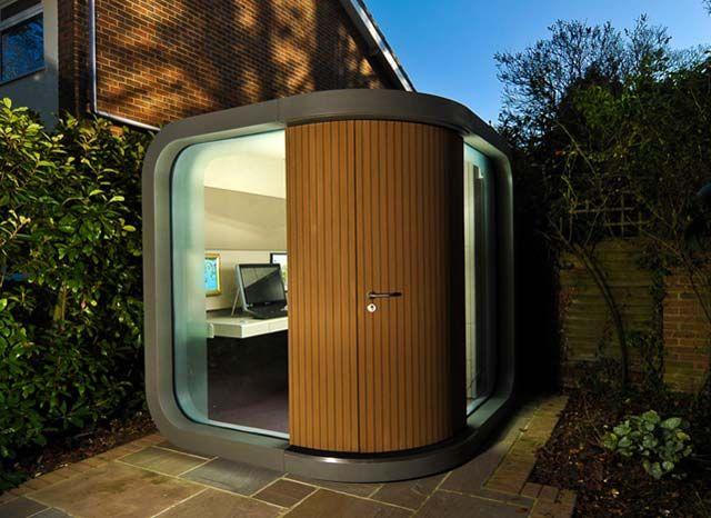 17 best ideas about prefab office on pinterest prefab for Prefab garden office