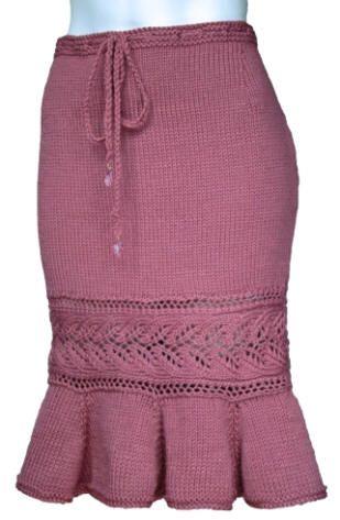 Shana Trumpet Skirt knitting pattern  $8.00