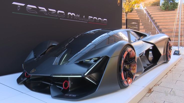 "‪ Italian Carmaker Unveils New High-Tech Prototype‬ ‪ Evgeny Maslov, VOA News‬  ‪Re: #Lamborghini Terzo Millenio‬  ‪""Terzo Millennio"", or Third Millennium, is a new brand name in auto design from Italian carmaker Lamborghini. Company representatives introduced the design at the Massachusetts Institute of Technology. Evgeny Maslov reports from Cambridge, Massachusetts.‬  ‪https://youtu.be/Hoe6xEwCVs4‬"