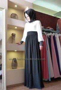 velvet skirts for hijab style