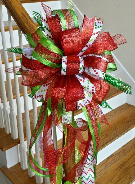 Christmas Tree Topper Bow Holiday Deluxe by SouthernWreathsAL