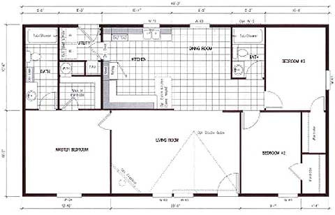 Derksen Building Floor Plans together with 10vw688 as well Triple Wide Mobile Home Floor Plans Texas moreover Small House Plans additionally 4 Bedroom Home Designs Plans. on cheap single wide mobile homes