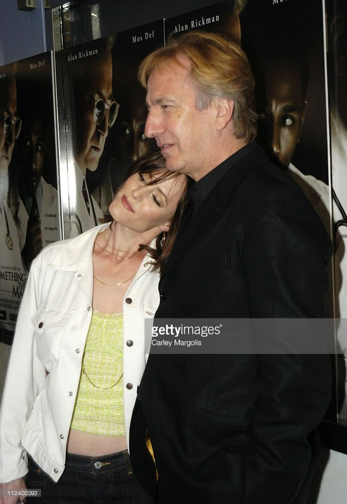 Mary Stuart Masterson and Alan Rickman during 'Something The Lord Made' - New York Premiere at Paris Theatre in New York City, New York, United States.