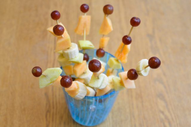 How to Display Fruit Kabobs