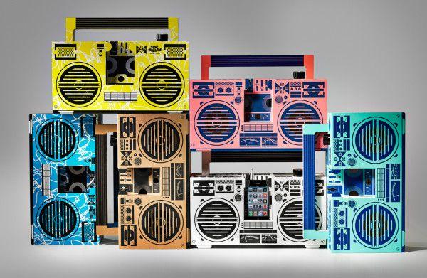 berlin boombox: a cardboard boombox that works!