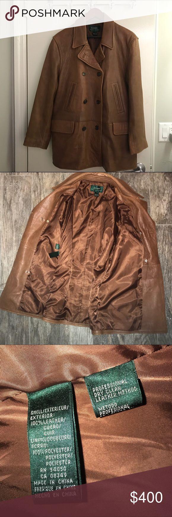 Beautiful designer leather jacket Ralph Lauren Ralph Lauren Luxury Tan Leather Jacket size 8 Exceptional quality and condition. Ralph Lauren Jackets & Coats