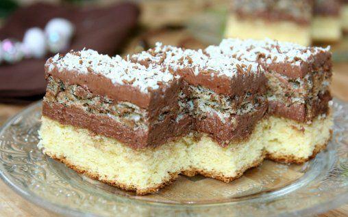 Prajitura Regina Maria --Romanian dessert bars. You gotta use google translate with this link.