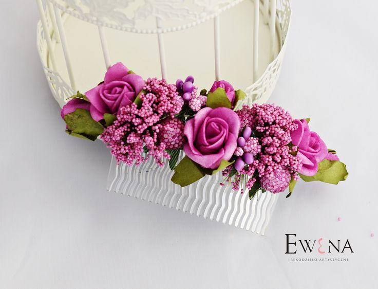 Kwiatowy Grzebyk ślubny