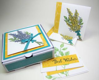 Maddiebug Designs - Lots of Lavender Pizza Box - Stampin' Up!, mini pizza box, Lots of Lavender (SAB 2018), Petal Palette, Shimmer ribbon pack (SAB 2018), Bubbles and Fizz dsp (SAB 2018)