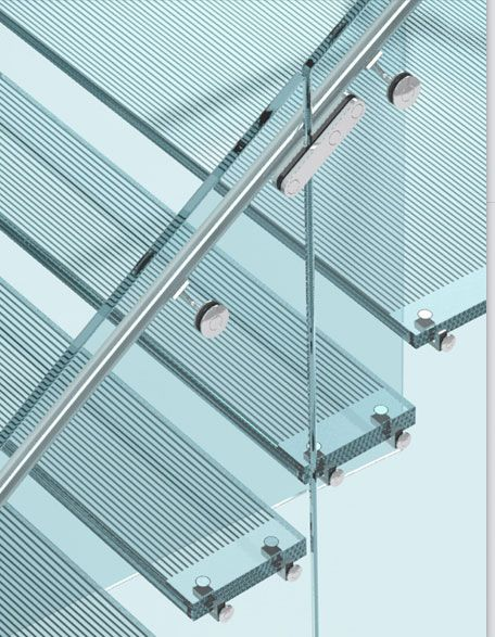 Sentech's Clearstep system is an all glass stair system