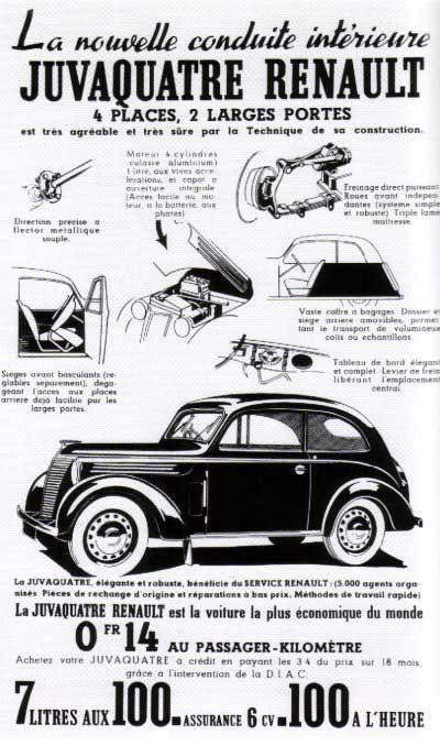 Renault Juvaquatre de 1937 à 1960
