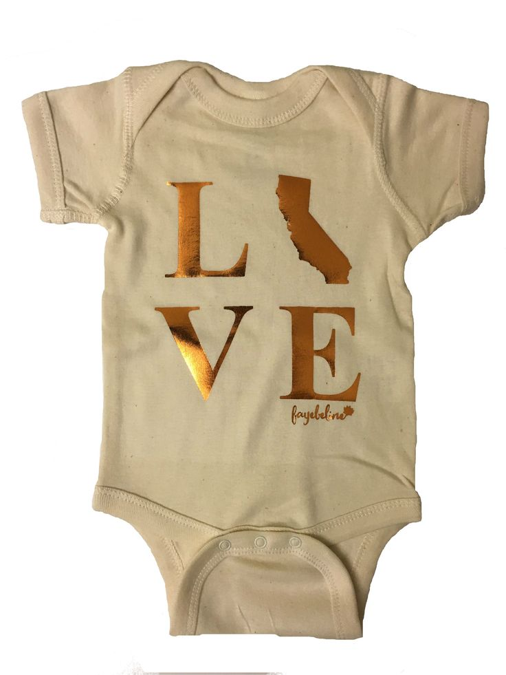 Fayebeline Brand California Love Baby Onesie - Multiple Sizes and Colors
