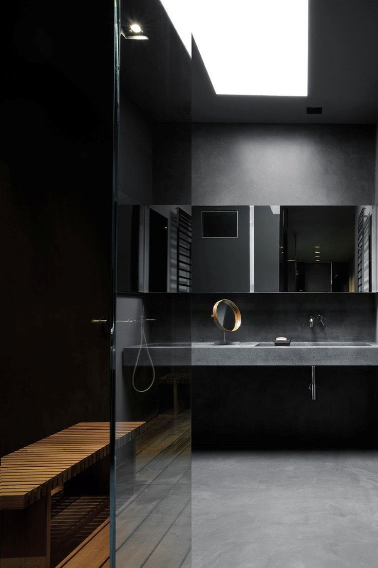 Black bathroom | Maurizio Pecoraro's Elegant Home in Milan | Yellowtrace
