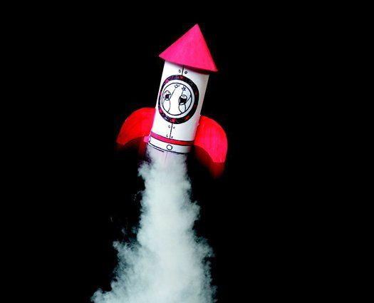Build And Launch A Mini-Rocket: Combine simple household items to make a rocket propulsion system.