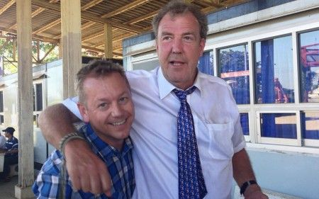 Terry Gordon (Fixer) and Jeremy Clarkson - at the end of shooting Top Gear Special Burma