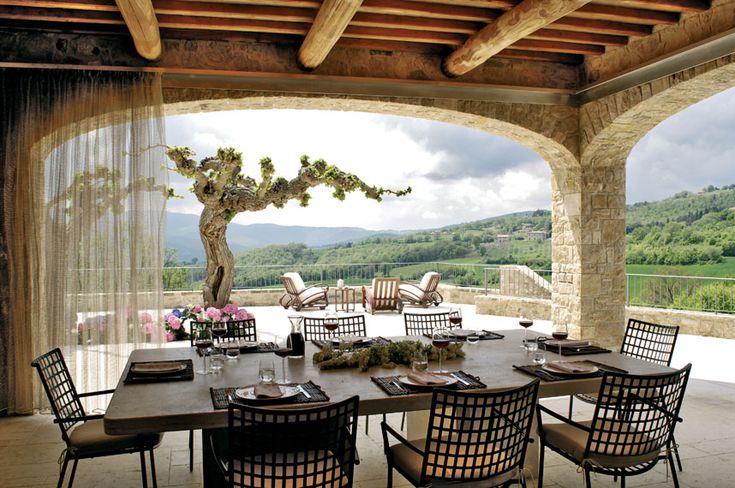 Villa Francisci, terrazza