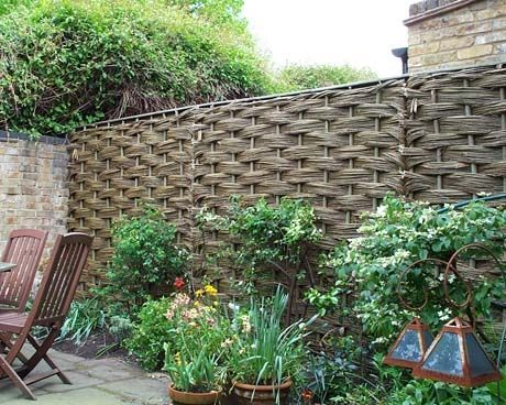 17 best images about natural willow garden fencing on for Natural garden screening ideas