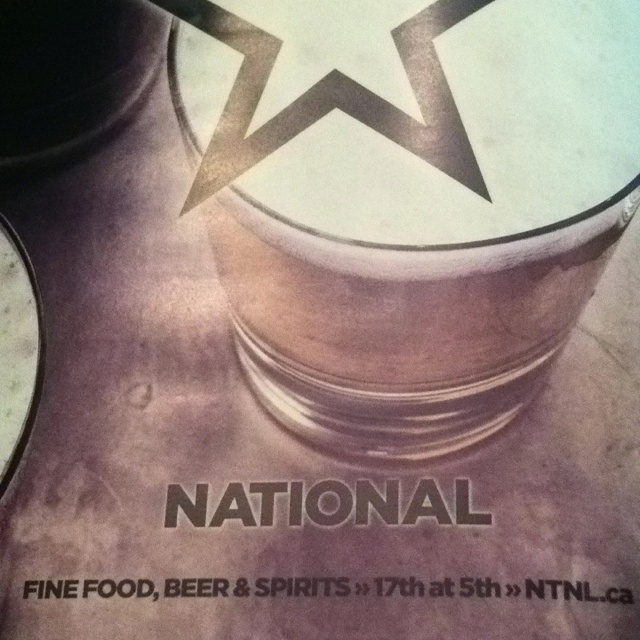 National - fine food, beer, spirits 17th Ave & 5th St Calgary www.ntnl.ca