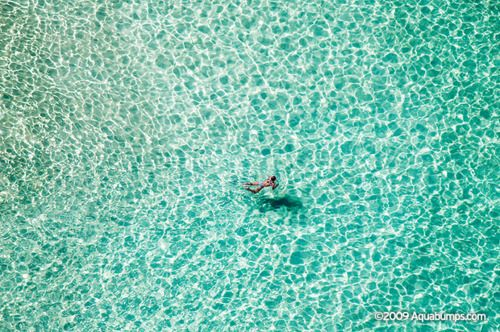 Aquabumps Lone Swimmer: This was shot from one of my first trips up in a Helicopter hovering above Bondi Beach on a hot summers day. I love shooting from a chopper. This was shot over North Bondi.