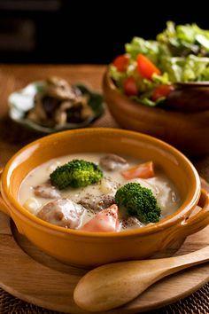 Japanese Cream Stew|クリームシチュー、きのこソテー