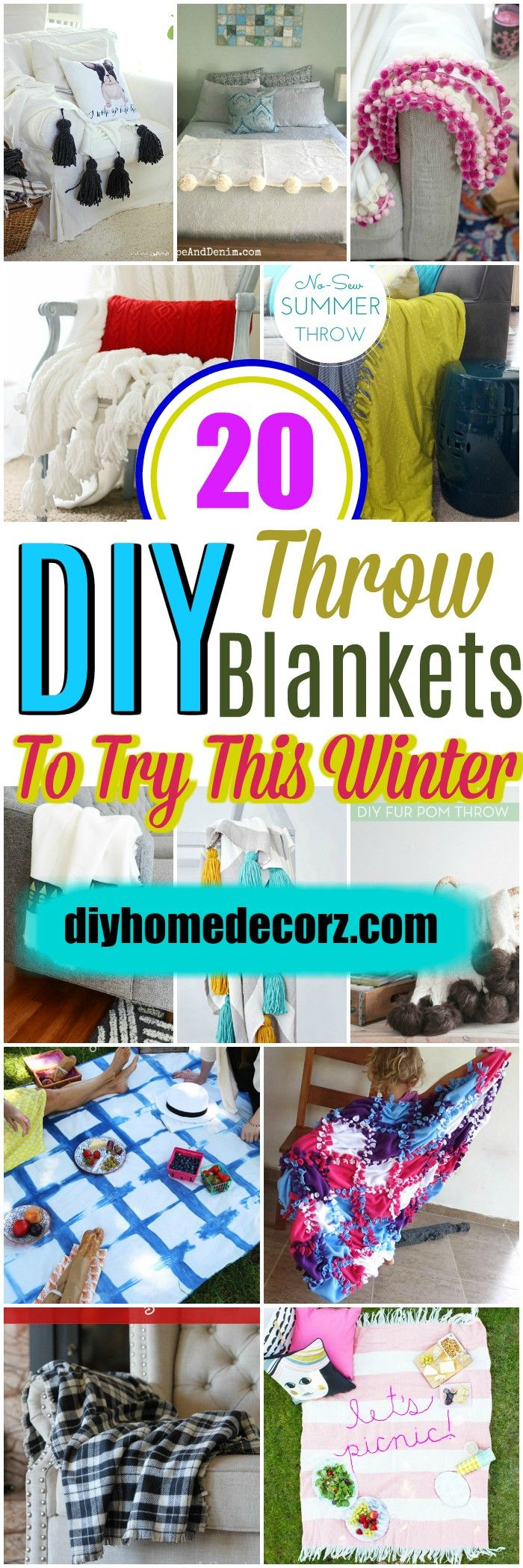 i have brought a big  collection of amazing diythrow blankets for youre inspiration.