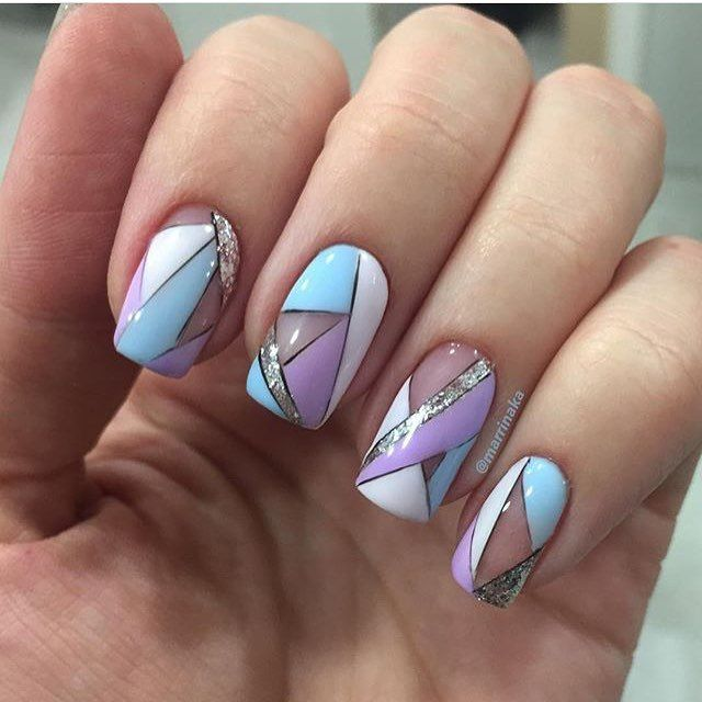 "Love this ""stained glass"" nail art!"