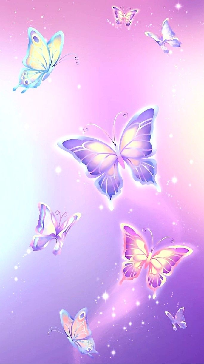 Cute Wallpapers In Pink Colour Wallpaper By Artist Unknown Butterfly Background