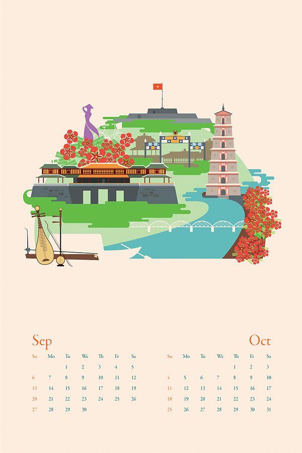 1735 km Calendar on Behance