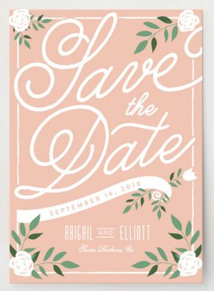 It's a Spring Romance. Save the date for your Spring wedding with a fresh floral wedding design from the Minted community of artists.