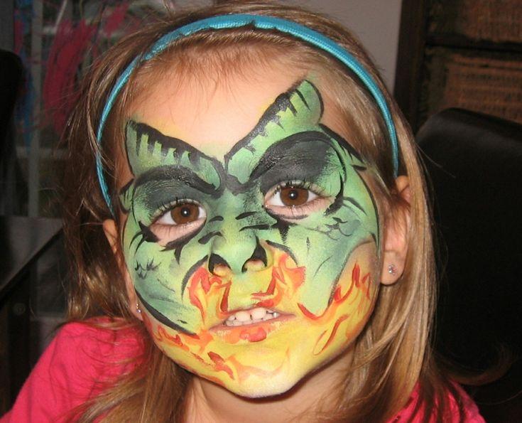 fastnacht drache schminken feuer gelb rot grün  #fasching #carnival