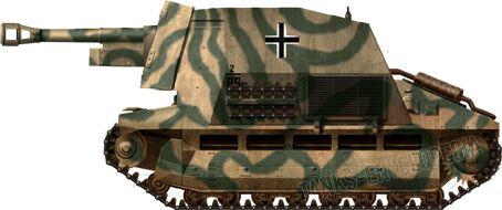 10.5cm leFH 16 auf Geschützwagen FCM 36(f), 21st Panzerdivision, Normandy, summer 1944.
