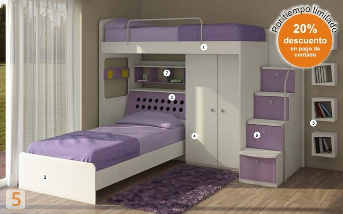 Mueble: cuchetas-varones - AGIOLETTO, Muebles Infantiles, Muebles Juveniles