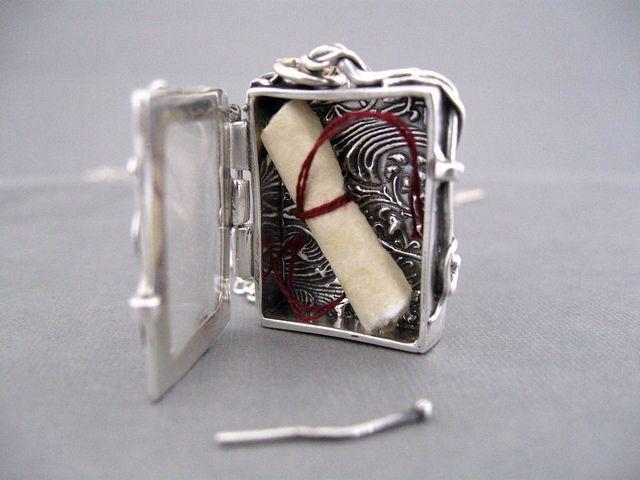 Treasure Locket Box in Fine Silver Metal Clay by JaneFont, via Flickr