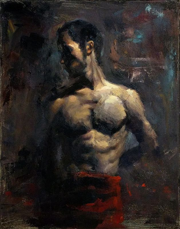 """Anthony V 14"""" x 11"""" Oil on Panel www.jphfinearts.net  Special thanks to @robertwellingsart (Instagram) for giving critiques throughout this process.  #art #oilpainting #realism #figurepainting #figure"""