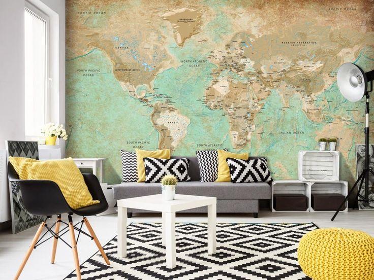 Oltre 25 fantastiche idee su carte geografiche su for Carta parati elegante