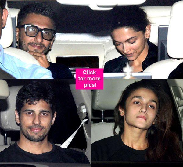 Love birds Ranveer Singh – Deepika Padukone and Alia Bhatt – Sidharth Malhotra spotted at Karan Johar's party – view HQ pics! #ranveersingh