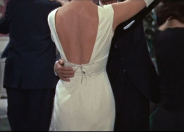 "The back of that gorgeous white dress worn by Doris Day in ""Pillow Talk"" . . . If only."