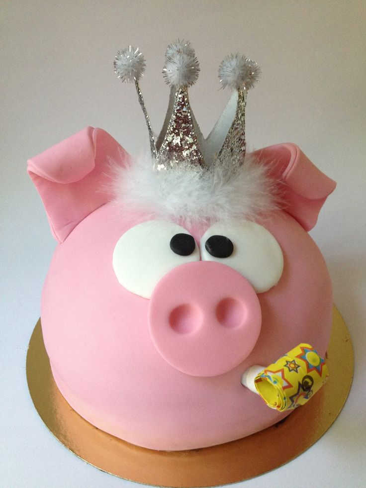 Piggy cake by www.facebook.com/loresbakery