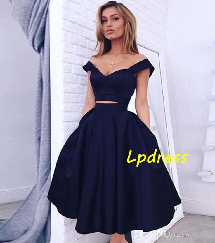Prom Dresses Dark Navy Satin Party Dresses Sexy Sweetheart Sleeveless Zipper Back Tea-Length Satin with Organza Ball Gown Cheap Wedding Guest Dress Evening Dresses Prom Dress Online with $109.0/Piece on Lpdress's Store | DHgate.com