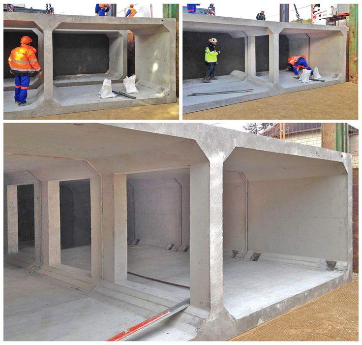 L'entreprise PENNEQUIN qui a réalisé l'ensemble des travaux s'est dite très satisfaite du procédé qui n'aura nécessité que 1.5 jours pour poser les 15 éléments constituant ce réservoir enterré. Ainsi en optant sur des solutions industrielles innovantes, l'acte de construction est parfaitement maitrisé, gage de respect du budget de la maîtrise d'ouvrage. #chapsol #ecobassin #ecobassinxl #inondation #bassindorage #beton #betonprefabrique