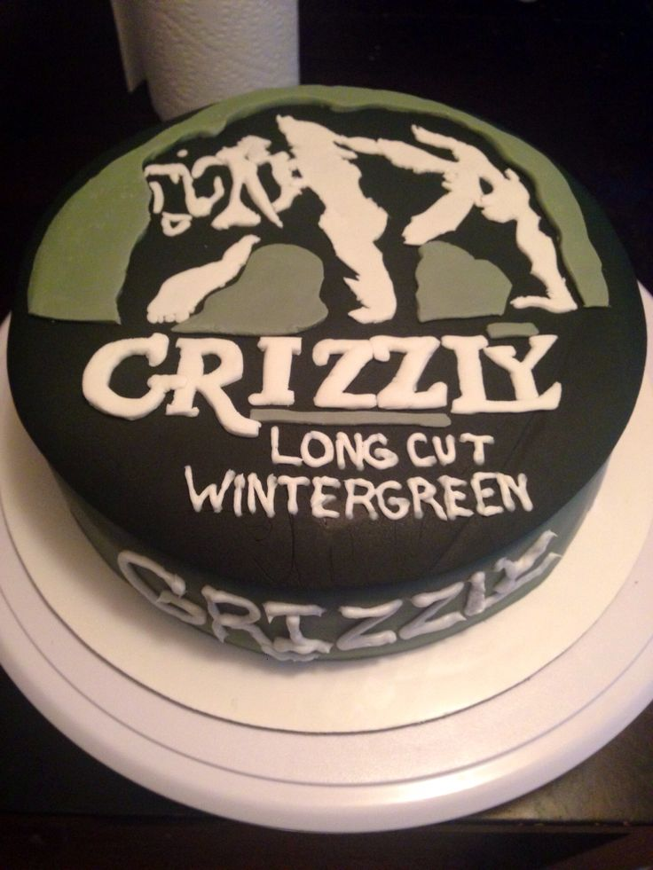Grizzly chewing tobacco cake