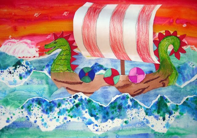 Cassie Stephens: In the Artroom: 4th Grade Viking Ships