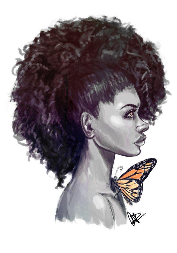 Afro Hair Drawings Gro...