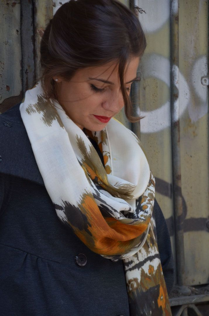 Shooting for the new season...Audrey scarf from Marina Finzi collection