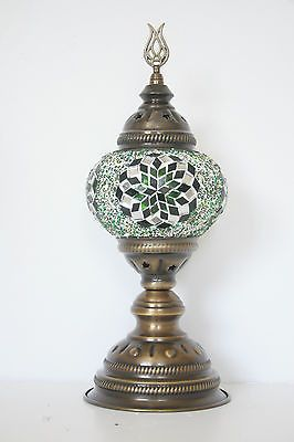 TURKISH OTTOMAN MOROCCAN MOSAIC TABLE TOP BEDSIDE LAMP NIGHT LIGHT LANTERN