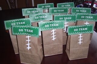 Football Party Favors #FLVS #goody #bag #Football                                                                                                                                                     More