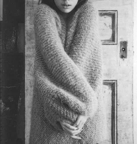 sweater, warm, comfort, black and white, photography