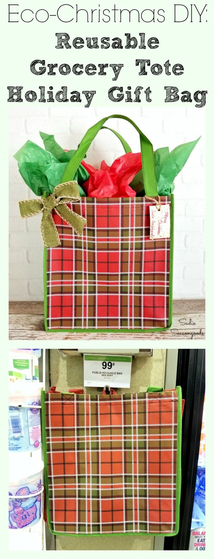 17 Best Green Living Images On Pinterest Cleaning Hacks Wiring Money Publix Give A Gift Within This Christmas By Repurposing Reusable Grocery Tote Bag